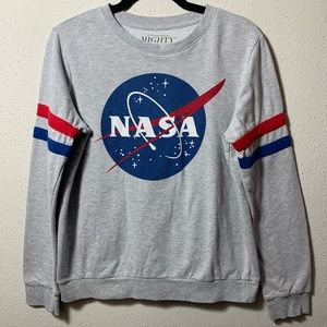 Women MIGHTYFINE Juniors Medium NASA Longsleeve